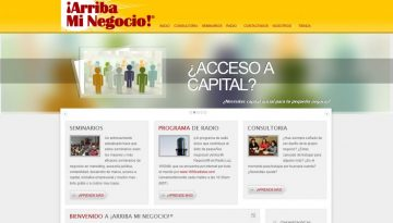 Arriba Mi Negocio website